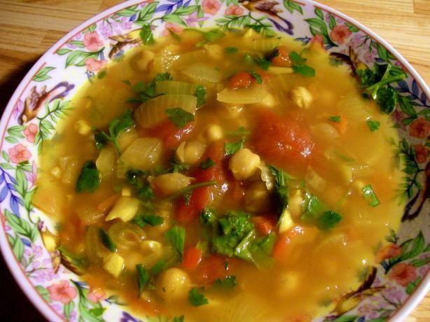 Hasa Al Hummus -- Moroccan Chickpea Soup ~ 180 kcals