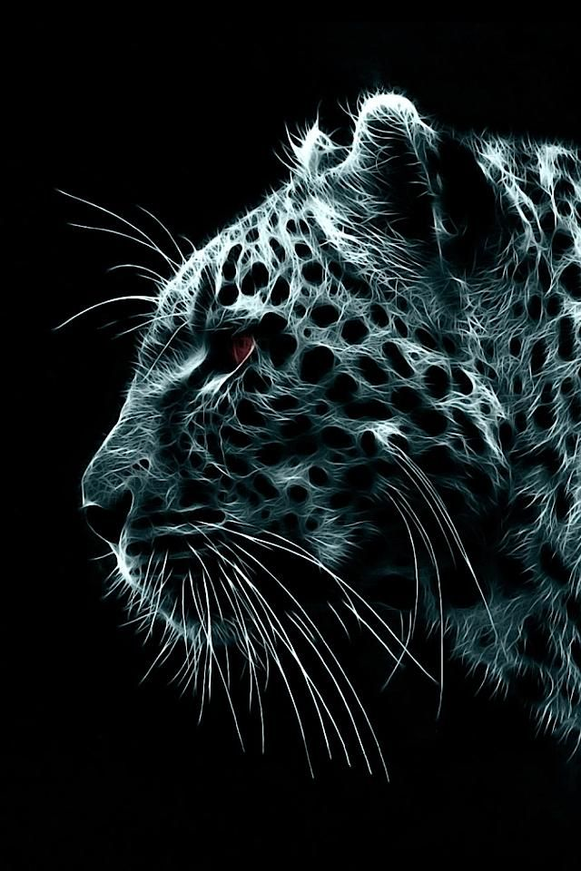 Snow Leopard Illustration iPhone Wallpaper