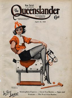 Poster Cover from The Queenslander 1937 - Polo Pinup Girl | State Library of Queensland Shop