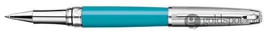 Caran D'ache Leman Bicolor Turquoise Rollerball Pen
