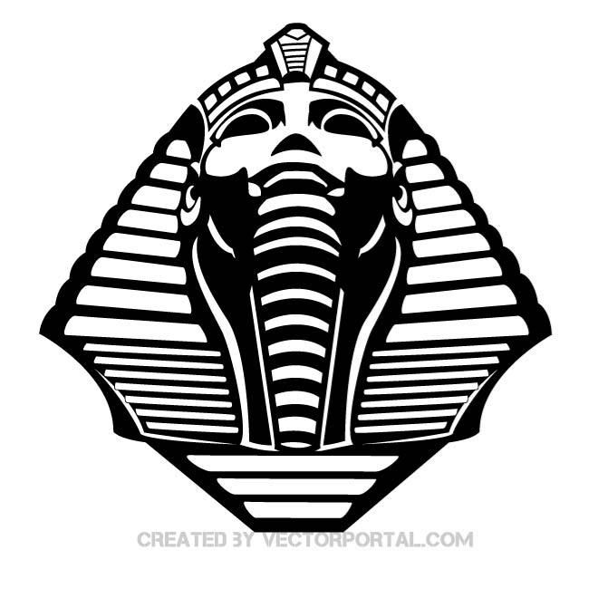 Vector graphics of Egyptian sphinx.