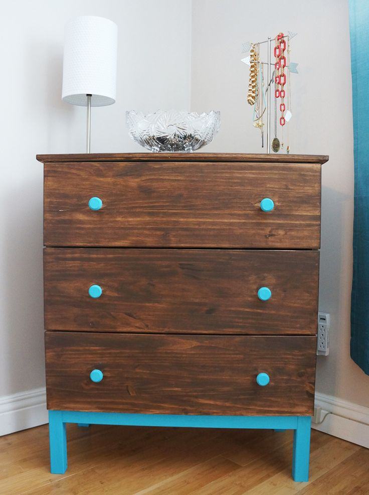 DIY Staining Project: Ikea's TARVA 3 Drawer Chest