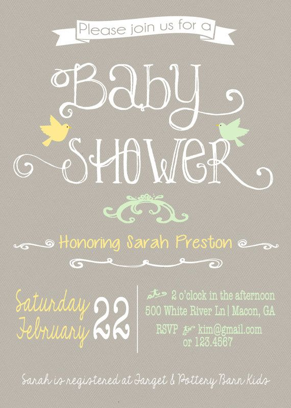 Gender Neutral Baby Shower Invitation by gingercakegraphics