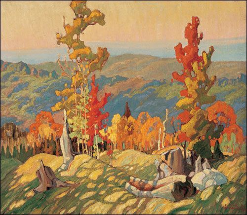 Autumn in the Northland by Franklin Carmichael, Group of Seven