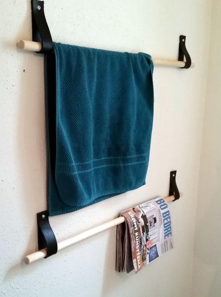 DIY guest bathroom decor - for towels, magazines etc.  - Made by EnaEna