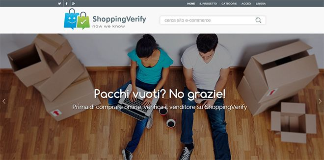E' online #ShoppingVerify, dove recensire i siti #ecommerce