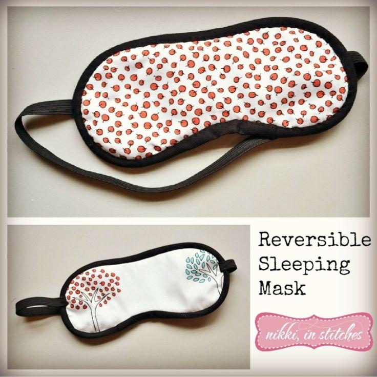 réversible masque de sommeil patron de couture libre de nikki dans les points