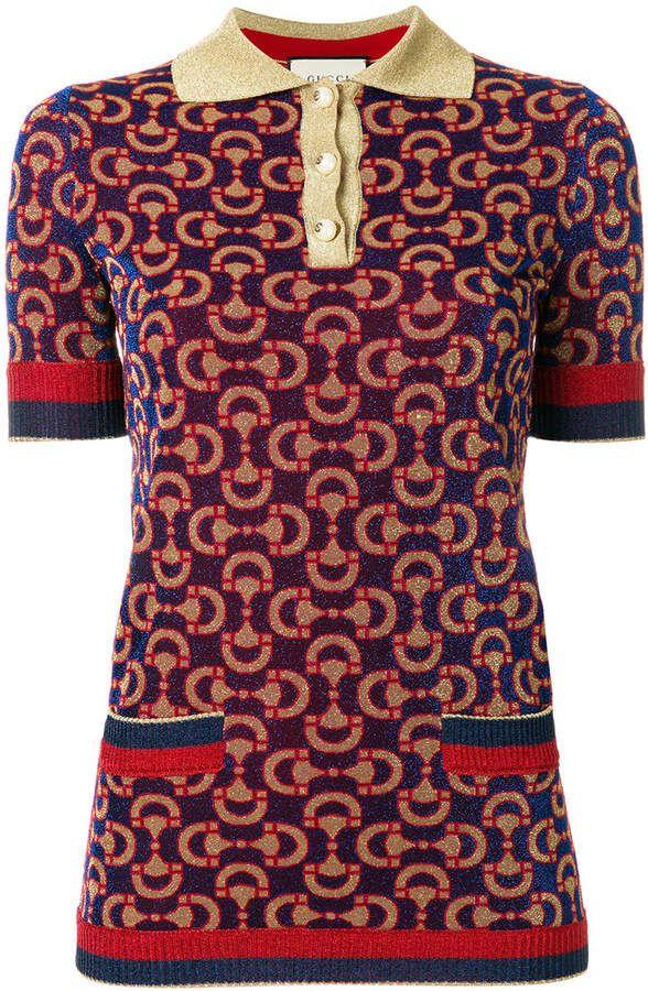 2c49fa6d4 Gucci knitted jacquard polo shirt Fashion, Dream, Girl, Love, Pretty, Spring