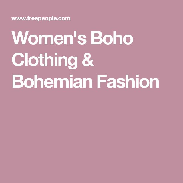 Women's Boho Clothing & Bohemian Fashion