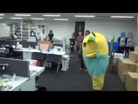 ふなっしーがドワンゴに1日社員としてやってきた - YouTube
