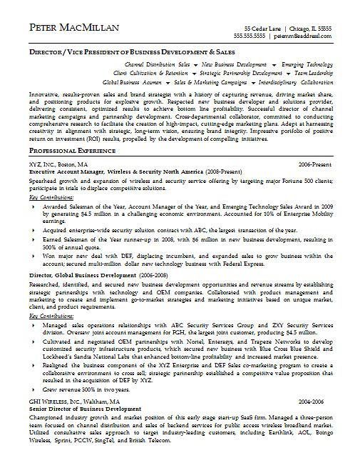 Regional Sales Manager Resume Sample] A Professional Resume Template ...