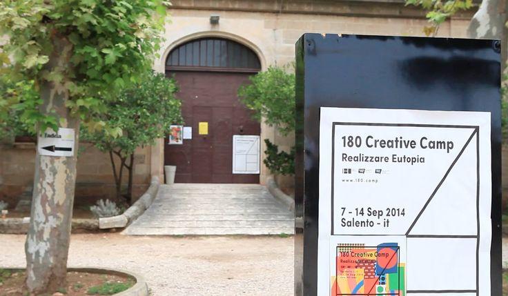 180 Creative Camp promosso da Lecce 2019 - Pagina Ufficiale all'interno del percorso per la candidatura a Capitale Europea della Cultura. Sostenuto dal Teatro Pubblico Pugliese, il Camp si svolge sotto la direzione artistica di Canal 180, una televisione portoghese dedicata all'arte e alla creatività. Guarda il video http://www.salentoweb.tv/video/9004/lecce-2019-realizzare-eutopia-180 Realizziamo eutopia con #Lecce2019 e #Salento2019.