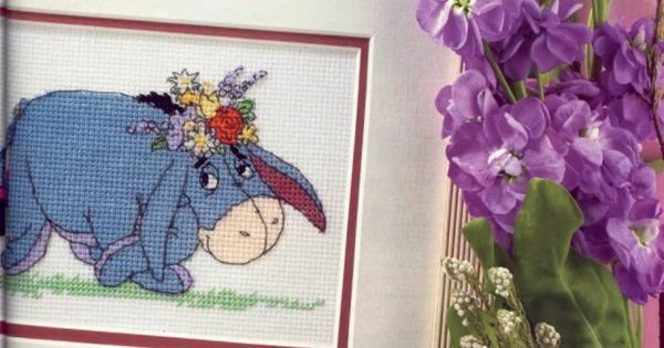 Winnie the Pooh Sunny Smiles with Eeyore The World of Cross Stitching Issue 142 October 2008  Saved