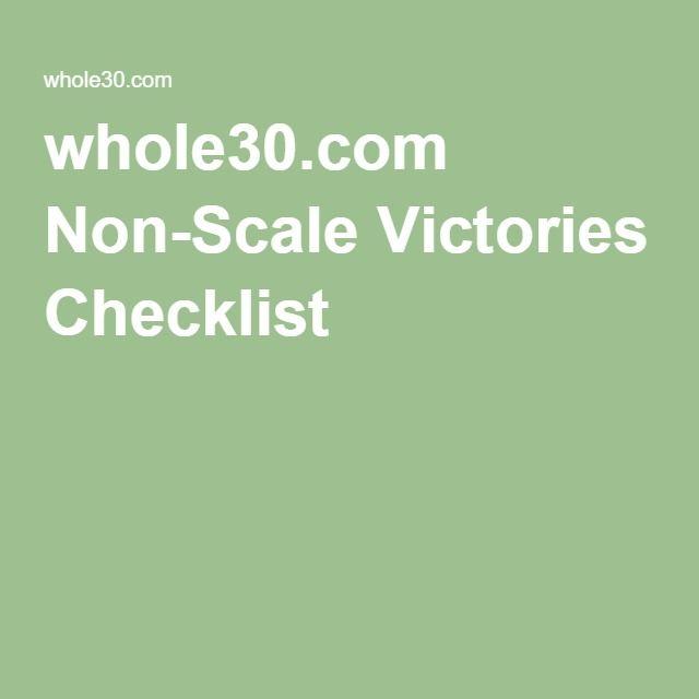whole30.com Non-Scale Victories Checklist