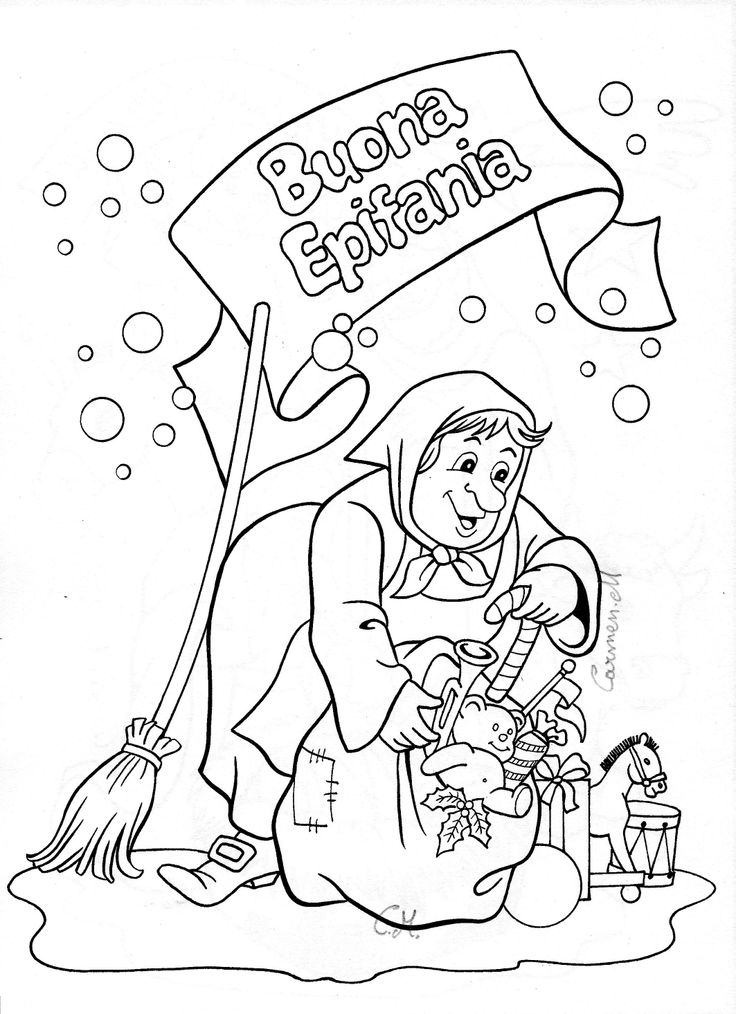 La befana italy christmas coloring coloring pages for La befana coloring page