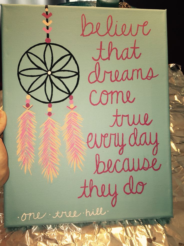 One tree hill canvas that I made for my new roomie
