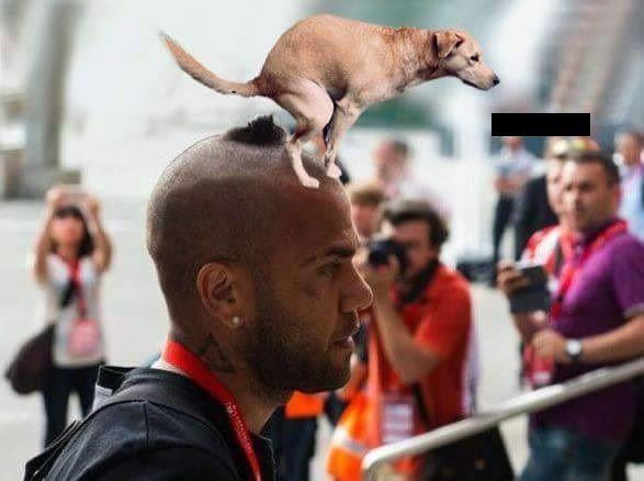 Brazylijczyk zmienił swoją stylizację i zaproponował nowy zaczes na głowie • Dani Alves z fryzurą w kształcie psiej kupy • Zobacz >>