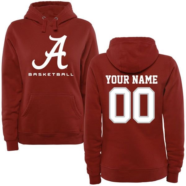 Alabama Crimson Tide Women's Personalized Basketball Logo Pullover Hoodie - Crimson - $69.99