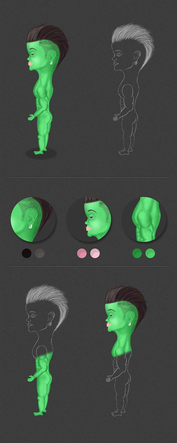 Green Boy on Behance