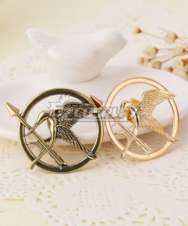 Pls email us if you need the costume, wig, shoes, weapon or other accessories of this character.  Email address: Ezcosplay@gmail.com The Hunger Games Mockingjay Brooch Cosplay Accessory - ENA0148