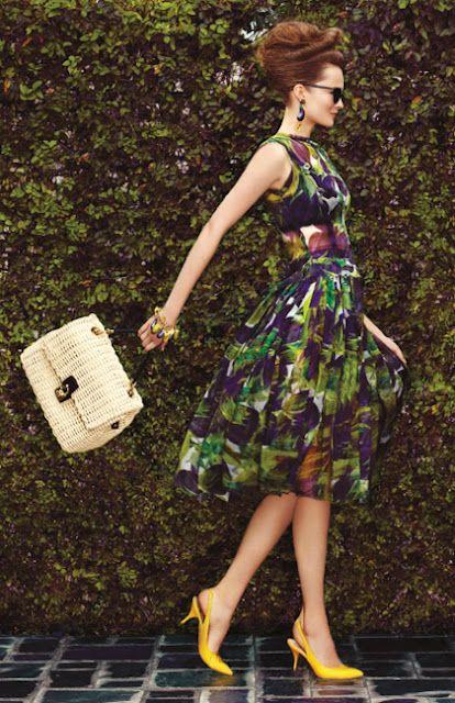 retro: Happy Friday, Fashion Dresses, Shoes Dresses, Style, Mustard Shoes, White Fashion, Retro Fashion, Pink Lemonade, Bags