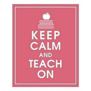 Keep Calm and Teach On. print and frame