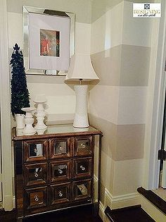 home decor stairway landing makeover, foyer, home decor, painting, stairs, wall decor