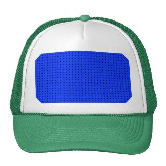Black Polka Dots On Light Blue Background Trucker Hat