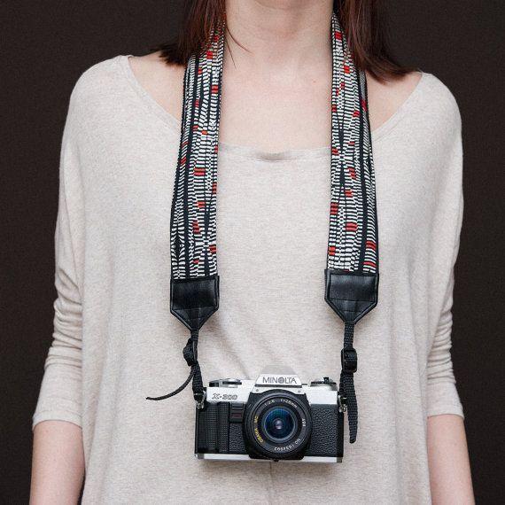 Zoe's strap - Noir - Courroie pour appareil photo rembourrée - DSLR
