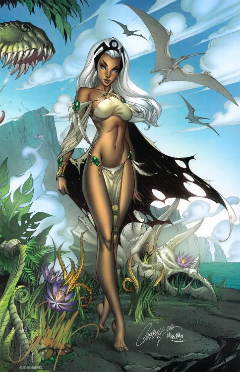 themarvelproject: Storm in the Savage Land by J. Scott Campbell...