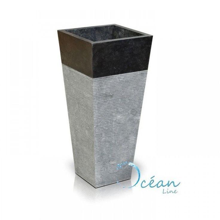 vif et grand en style grande vente au rabais mignon pas cher Vasque colonne sur pied en marbre noir 40 cm - Squario - #cm ...