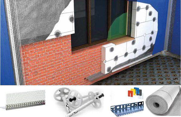 Gama de productos para aislamiento térmico, fijaciones, perfiles de PVC, malla de fibra de vidrio, plaquetas de nivelación y muchos mas elementos para el aislamiento.