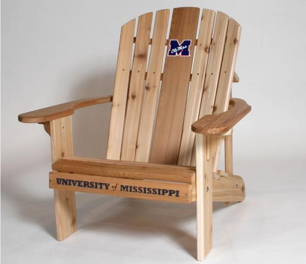 EUREKA Woodworks Logo Adirondack Furniture: University Of Mississippi: