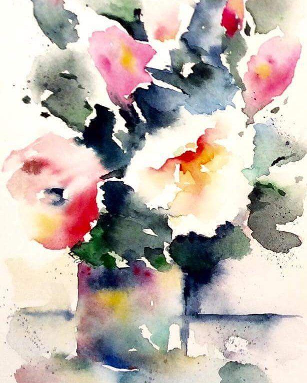 Vintage Camellias. Leonie Cheetham . . #camellias #flowermagic #flowersofig #iloveflowers #flowerart #flowerlover #watercolourart #watercolorart #leoniecheethamart #illo52weeks #colourinspiration #colourplay #colorplay #littlethingsmakemehappy #nothingisordinary