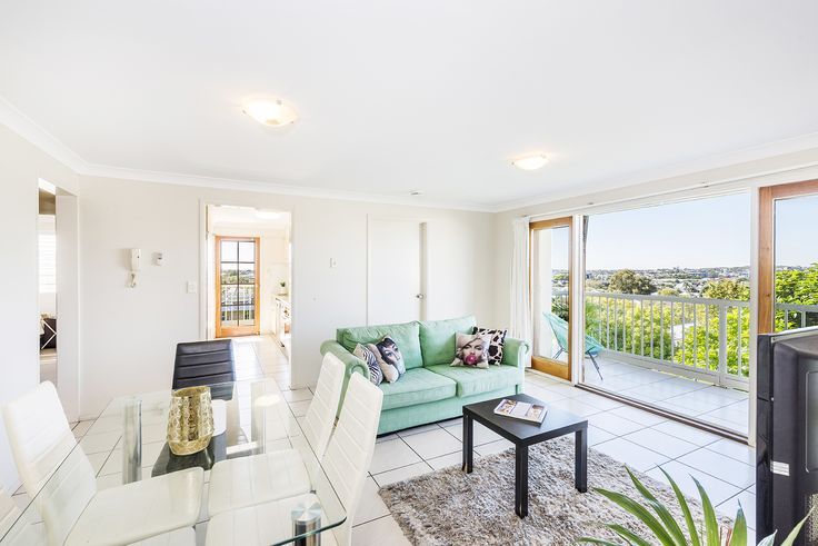 NEW FARM 12/550 Brunswick Street...Perched high in a popular New Farm position, this top level apartment captures outstanding panoramic views across the New Farm peninsula.