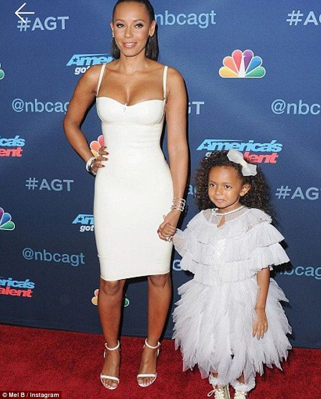 Mel B accentuates dancer's build on daughter's fifth birthday