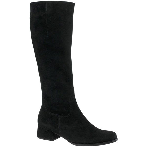 Gabor Nell Knee High Boots, Black (825 RON) ❤ liked on Polyvore featuring shoes, boots, shearling-lined boots, black boots, black knee high boots, gabor boots and flat black knee high boots