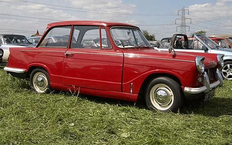 Triumph Herald...my 2nd car...number plate OYR 793F!