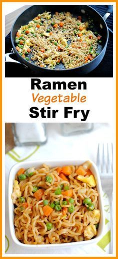 Easy & Inexpensive Ramen Vegetable Stir Fry- Ramen can be used to make a healthy filling dish, if you know how to use it! Here's how to make a delicious ramen vegetable stir fry! | easy recipe, dinner, lunch, noodles, pasta, inexpensive, frugal, cooking,  (Recipes Easy Quick)