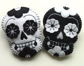 Bride and Groom Retro Wedding Gift. are sugar skulls tooooo black metal wedding-ish?