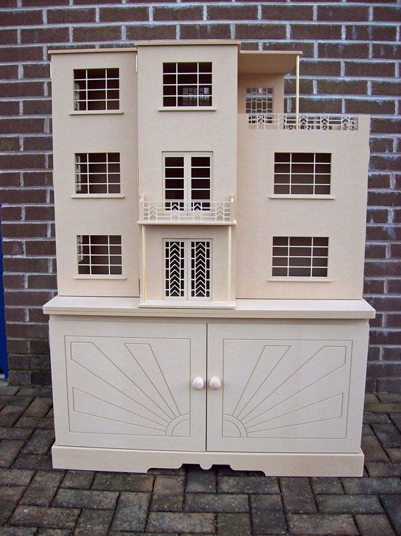 Love The Idea Of Storage Piece As Display Stand   Dolls Houses, Dolls House  Kits, Dolls House Accessories   The Dolls House Builder (jt Art Deco House  ...