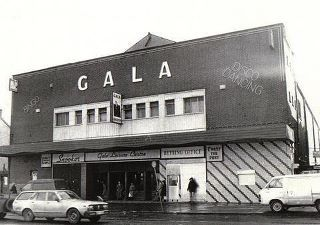 The Gala Cinema was built by G & T Crampton and was officially opened by Canon Troy on the 23 May 1955. The first Cinemascope musical film shown was 'Lucky Me' starring Doris Day and Phil Silvers. There was seating for 1,850 people. The Gala closed as a cinema in 1973.