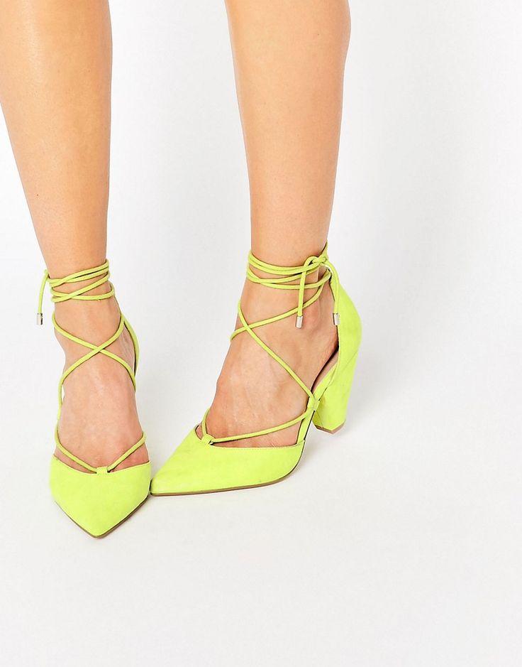 Zapatos Tacon Ancho Y Cordones
