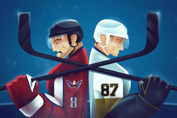Few weeks ago I've drawn an illustration for ESPN.com on the two main talent in NHL Sidney Crosby and Alex Ovechkin.