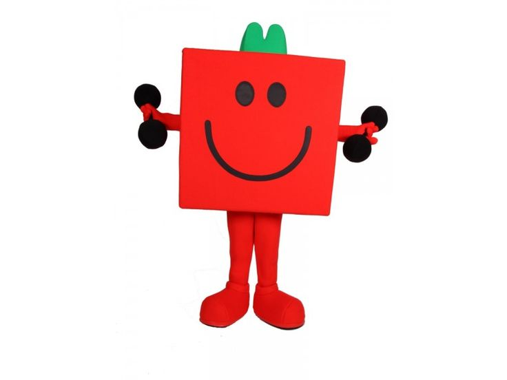 Mr Men Mr Strong Character Costume