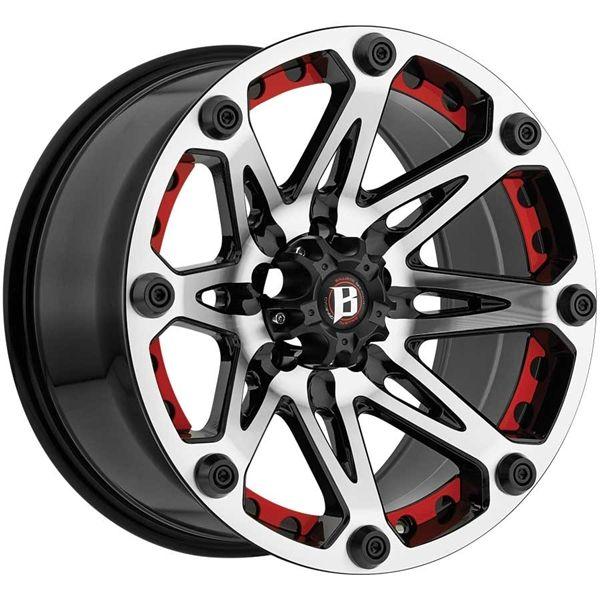 Ballistic Off-Road Wheels 814 Jester - 20 inch 20x9.0 Off ...
