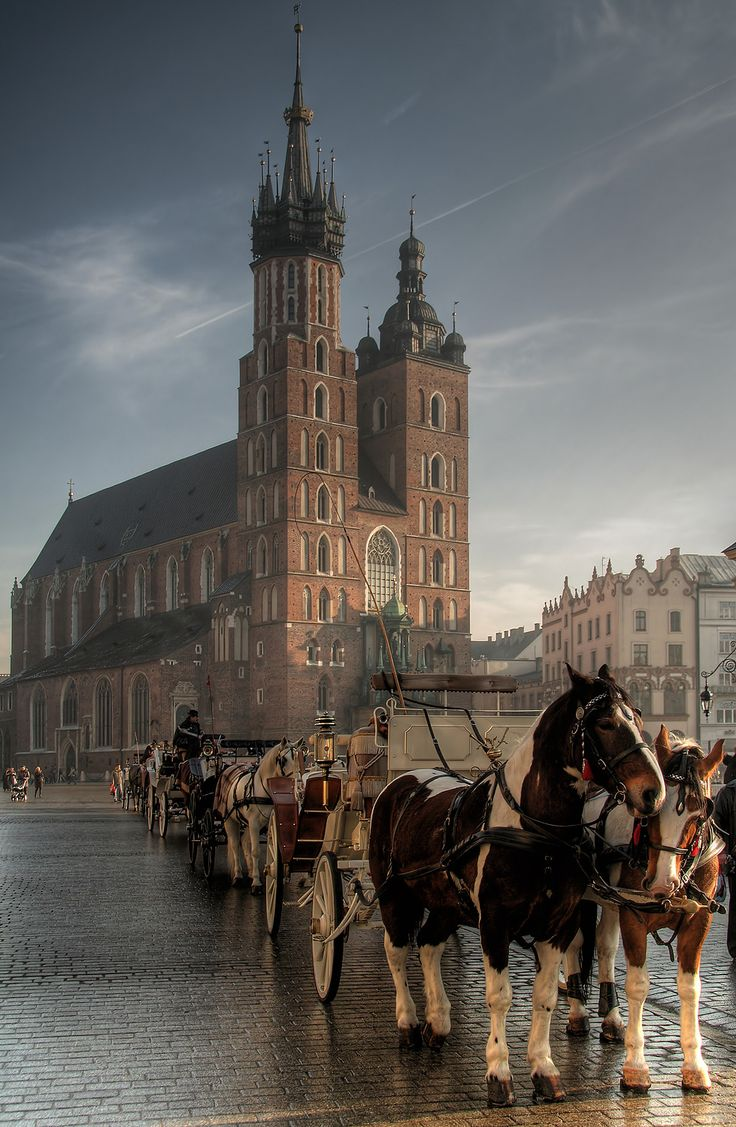 This is St. Mary's church in Krakow Poland. Home parish to Pope John Paul II when he was younger.