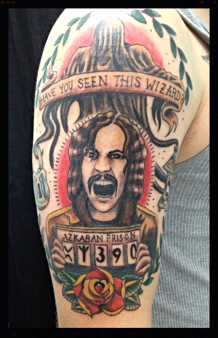 Old school Harry potter Sirius Black wanted poster tattoo | Body art ...