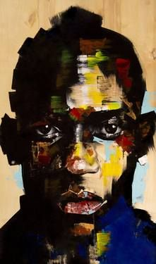 """Balotelli,"" original portrait painting by artist Joseph Lee (USA) available at Saatchi Art #SaatchiArt"