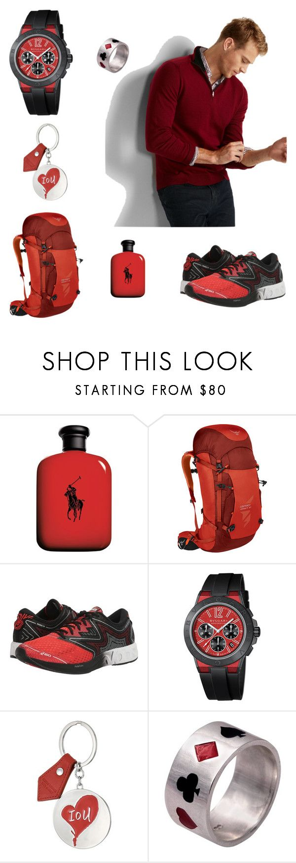 """""""Men's Fashion"""" by deynnielle ❤ liked on Polyvore featuring John Lewis, Osprey, Asics, Bulgari, Vivienne Westwood, Edge Only, men's fashion and menswear"""